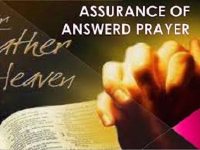 Receiving Answers To Prayers