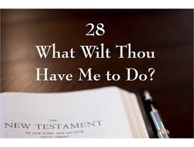 What will thou have me to do
